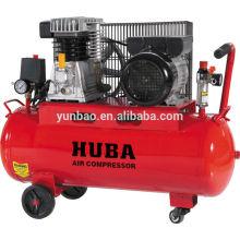 tragbarer italienischer Zwei-Kolben-Riemengetriebener Luftkompressor AC-Leistung 2PS / 50L