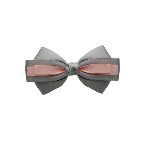 Double Fold ribbon Bow with contrast color