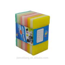 JM0353 Herramientas de cocina 3 iN 1 Deluxe Limpieza Esponja Scrubber cocina colorida almohadillas calientes