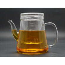 Clear/ Decorate Glass Teapot Glass Kettle, Hot Sell Glass Teapot with Steel Filter