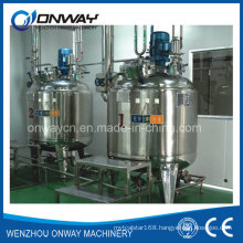 Pl Stainless Steel Jacket Emulsification Mixing Tank Oil Blending Machine Mixer Sugar Solution Heating Stand Mixer