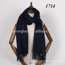 Navy tiefblaue Farbe Lambswool großen Wolle Schal Schal