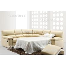 Canapé en cuir meuble en bois (613)