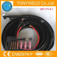 Soldadura de gas de argón weldcraft tig antorcha WP-17V gas y cable 8M todo