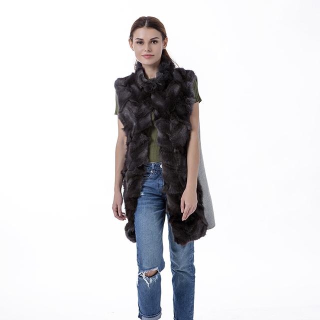 Fashion cashmere fur vest