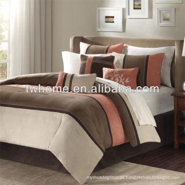 Madison Park Palisades Edredão Duvet Cover Pieced Brown Set de cama