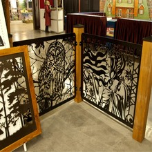 Laser Cut Metal Fencing Design