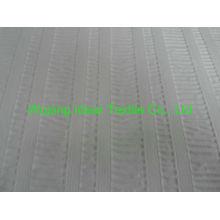 75 * 150 D poliéster liso em relevo pele pêssego tecido/branco gravado da tela