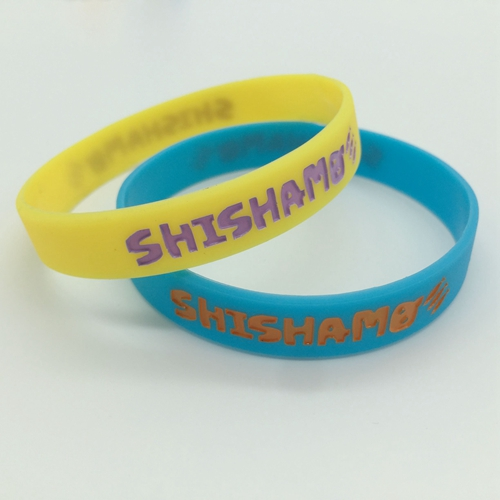 color filled wristbands