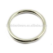 Moda de alta qualidade de metal em aço inoxidável anel redondo