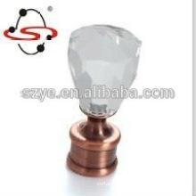 CF03 glass ball curtain rod accessories finial hardware supplier foshan