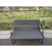 Coxim duplo cadeira mobília ao ar livre do Rattan bilugares