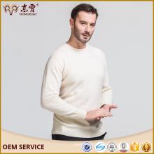 Benutzerdefinierte Größe Erdos Creme Farbe 100% Cachemire Sweater mit Großhandelspreis