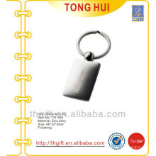Laser Silver square shape key chain/key rings for promotion gifts