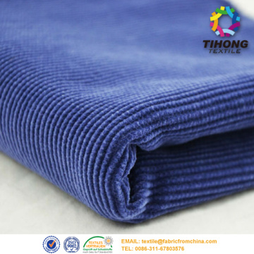 21 Wale Grey and Navy Corduroy Fabric