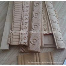 molde decorativo da parede interior de madeira contínua