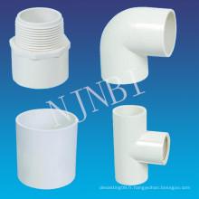 Raccords de tuyaux en PVC pour l'utilisation de la construction