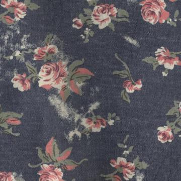 Твил печатных трикотажные джинсовой ткани для женской одежды