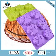 Vente de vacances 100% de gâteau au chocolat à base de nourriture moule en silicone Sc48