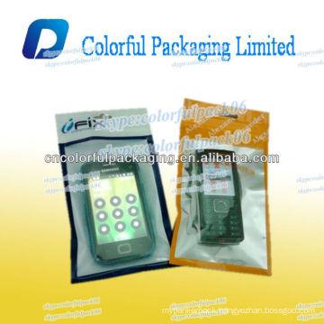 Front Transparent Resealable Zipper Poly Plastic Bag