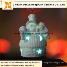 Lumière solaire à LED en forme de bonhomme de neige pour décoration en sapin de Noël