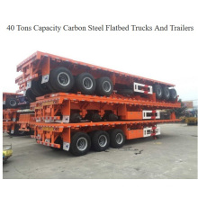80tons to 100tons Container Flatbed Trailer 3 Axle