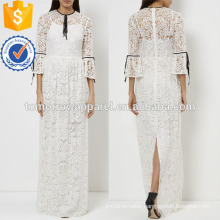 White Lace Evening Gown Manufacture Wholesale Fashion Women Apparel (TA4060D)