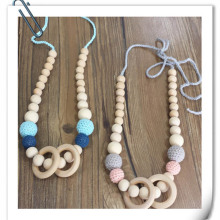 Mom Necklace Crochet Teething Necklace