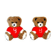 Cute teddy bear embroidery patch, OEM orders are welcome
