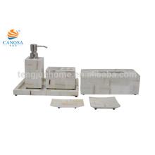 Conjunto de seis peças branco verificado Conjunto de banheiros de imitação de poltrona de chifre