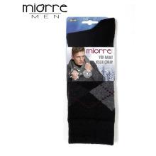Miorre Venta al por mayor Sweat-absorbente Plaid patrón invierno hombres calcetines de lana