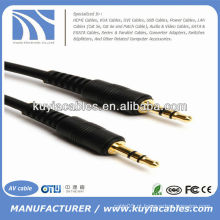 3,5 milímetros macho para cabo de áudio masculino cabo M / M