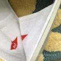 Imprimé hôtel et club logo épais eva unique tricoté coton blanc pas cher compagnie pantoufle