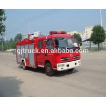 4 * 2 conducen el camión de bomberos del tanque de agua de Dongfeng de la cabina doble / el camión de bomberos de la espuma del agua de Dongfeng / el camión de bomberos de Dongfeng para 1-6 metros cúbicos
