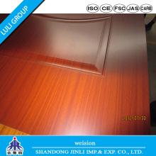 Melamina HDF moldado porta pele usada para porta Interior