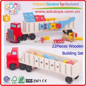 Nouveau jouet en bois éducatif en bois, logo personnalisé Jeu de transport pour enfants, enfant de maternelle Jeu de jouets en bois superbe