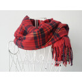 Forme a muchachas el invierno caliente de la tela escocesa el mantón largo de la bufanda