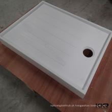 KKR tamanho personalizado chuveiro bandeja corians superfície sólida profunda base de chuveiro