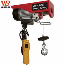 Grua de levantamento elétrica do cabo da corda de fio do tipo do preço de fábrica da grua 250kg mini
