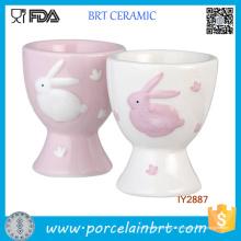 Gros oeufs de lapin de Pâques en céramique tasses pour Childern