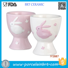 Wholesale Easter Bunny Ceramic Egg Cups for Childern