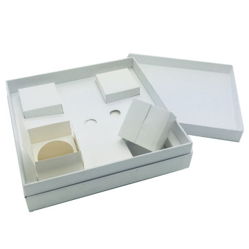 Europe style for for Electronics Set Bottom Paper Box Lip paper gift box with insert export to France Importers