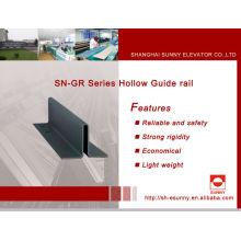 Guide des fabricants de rail Rail de guidage /Hollow / Rail de guidage pour ascenseur / pièces d'ascenseur