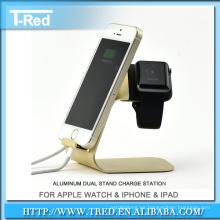 Soporte de escritorio de aluminio del soporte del soporte del muelle para Apple Watch