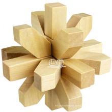 wooden brain teaser puzzle games/wooden 3d puzzle
