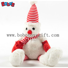 Squeaky Plush Soft Christmas Bear Pet Toy as Nice Gift for Dog and Cat Bosw1085/16cm