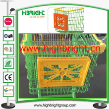 Supermarket Plastic Shopping Cart Cart Advertisement Frames