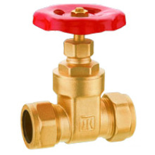 Brass gate valve, J1006 gate valve with compression