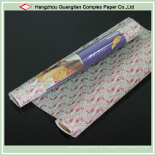 Papel de pergaminho impresso do produto comestível