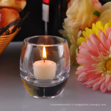Porte-bougies clairs à fond épais